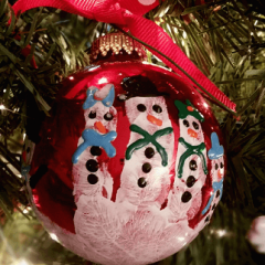 Fun DIY Handprint Snowman Ornament For Kids