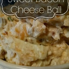 The best Sweet Bacon Cheese Ball Dip Recipe