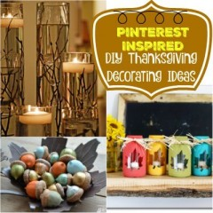 Pinterest Inspired: DIY Thanksgiving Decorating Ideas