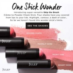 Skip the Brush with the Julep Crème-To-Powder Blush Stick