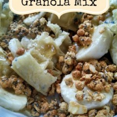 Sweet Banana Honey Waffle Granola Mix