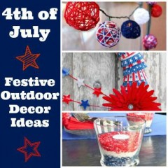 Pinterest Inspired: 4th Of July Outdoor Decor