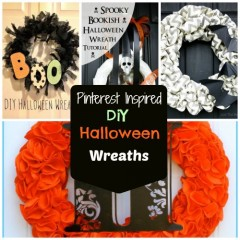 Pinterest Inspired: Cute DIY Halloween Wreaths