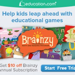 Education.com-Brainzy Free Trial! Great For Summer Learning