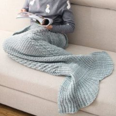 Fab Find: Knitted Mermaid Tail Blanket