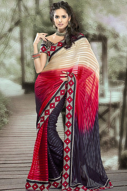 hot party wear sarees