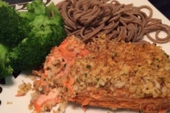 Easy Panko Crusted Salmon Recipe